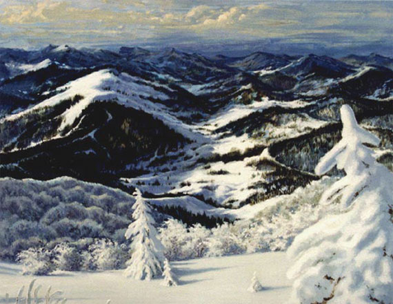 Зима в горах. Холст, масло. 90х110 см. 2003