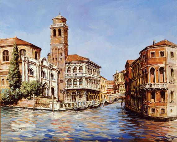Дворец Лабиа в Венеции. Картон, холст, масло. 21х26 см. 2002
